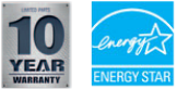 10 year Warranty & Energy Star Logo